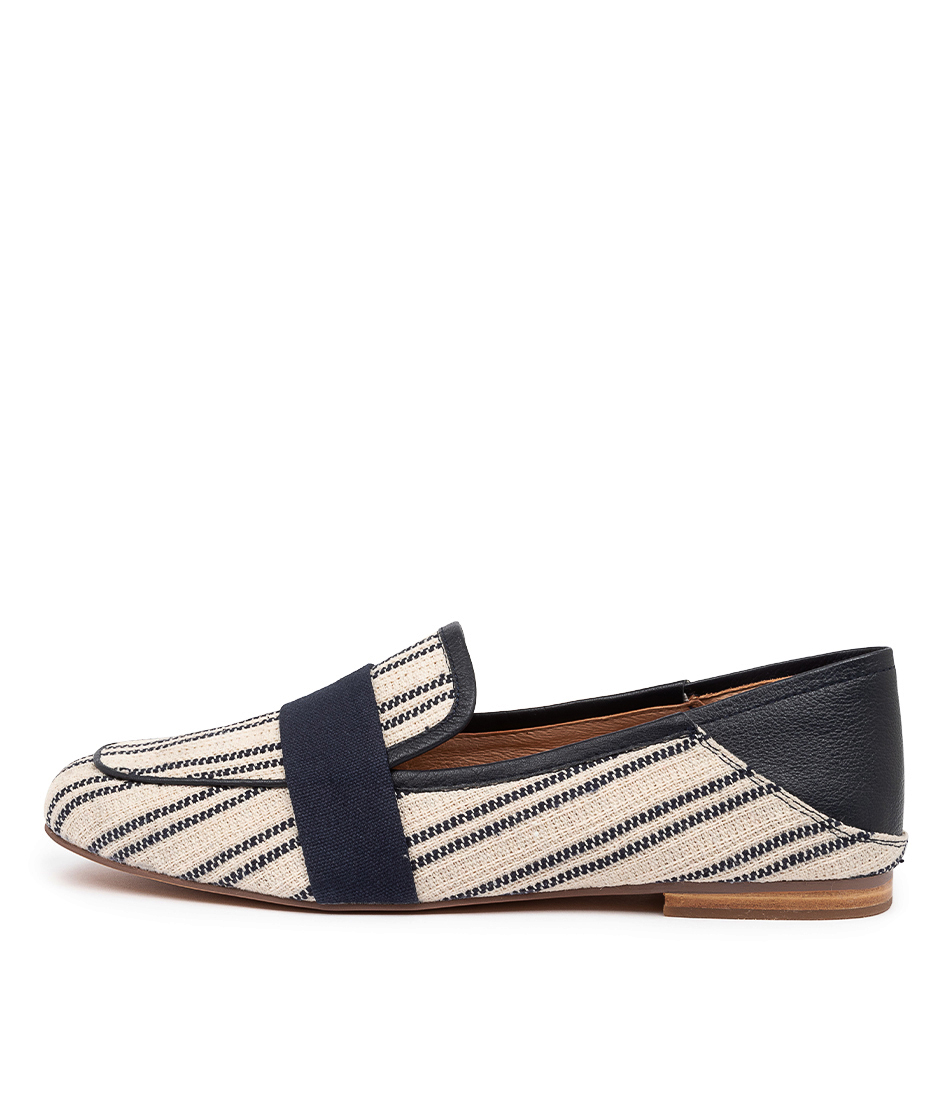 Buy Mollini Golive Mo Navy Stripe Flats online with free shipping