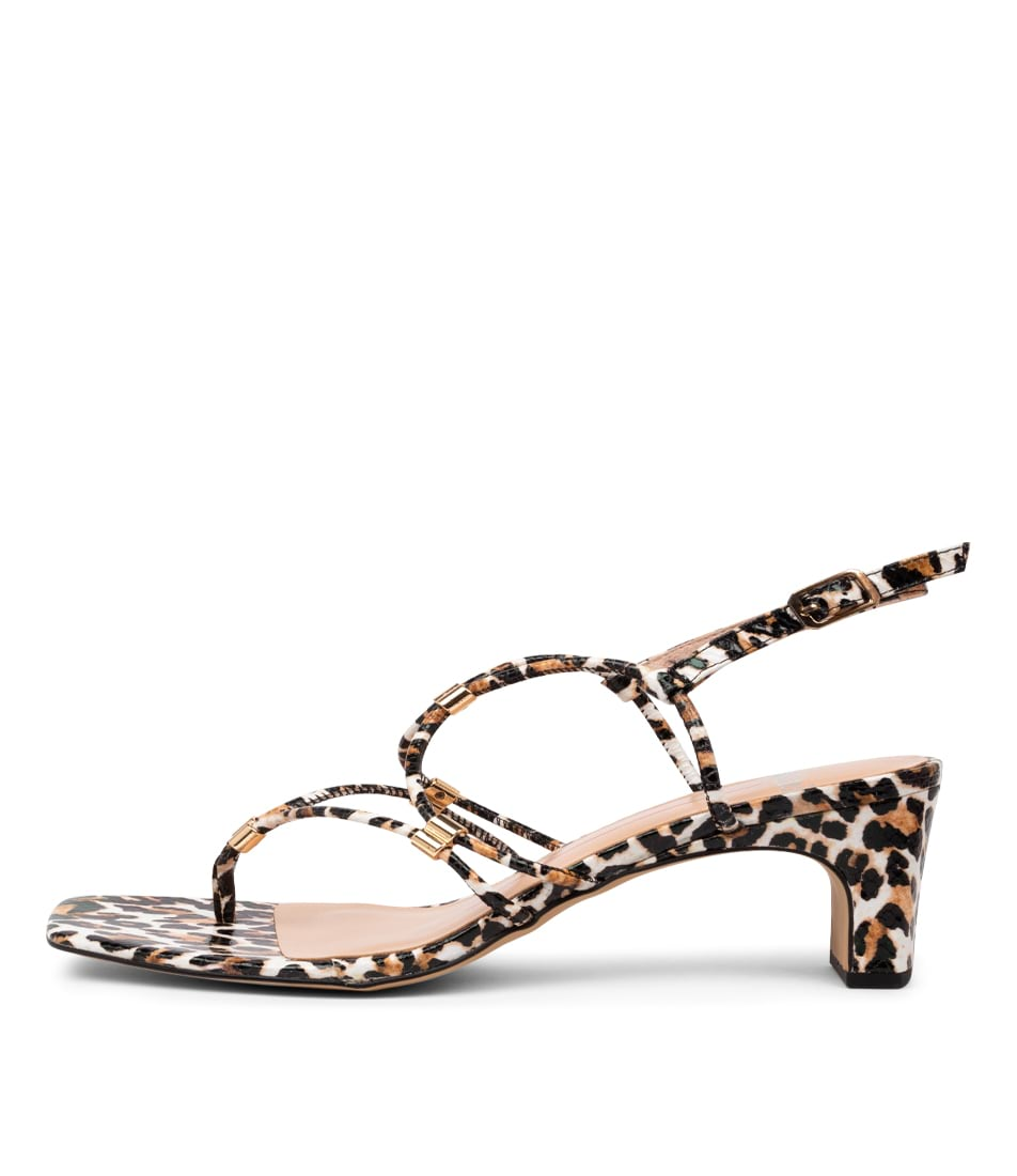 Buy Mollini Hayles Mo Ocelot Print Heeled Sandals online with free shipping