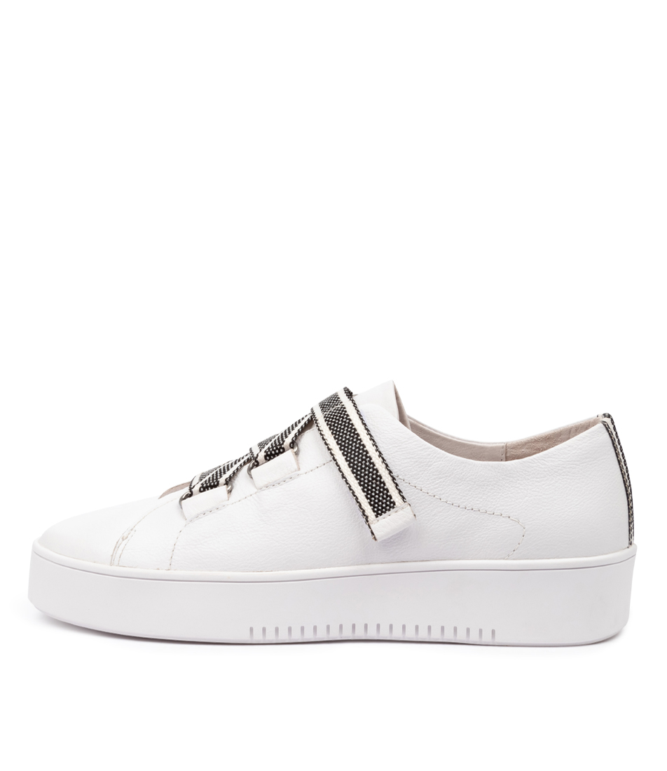 Buy Mollini Lafay Mo White Black & White Sneakers online with free shipping