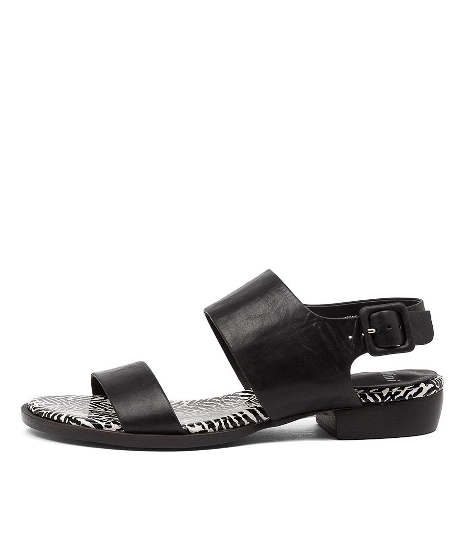 Buy Mollini Leylan Mo Black Tribal Flat Sandals online with free shipping