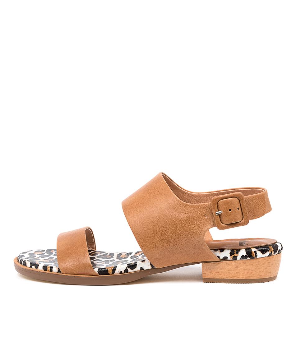 Buy Mollini Leylan Mo Tan Ocelot Flat Sandals online with free shipping