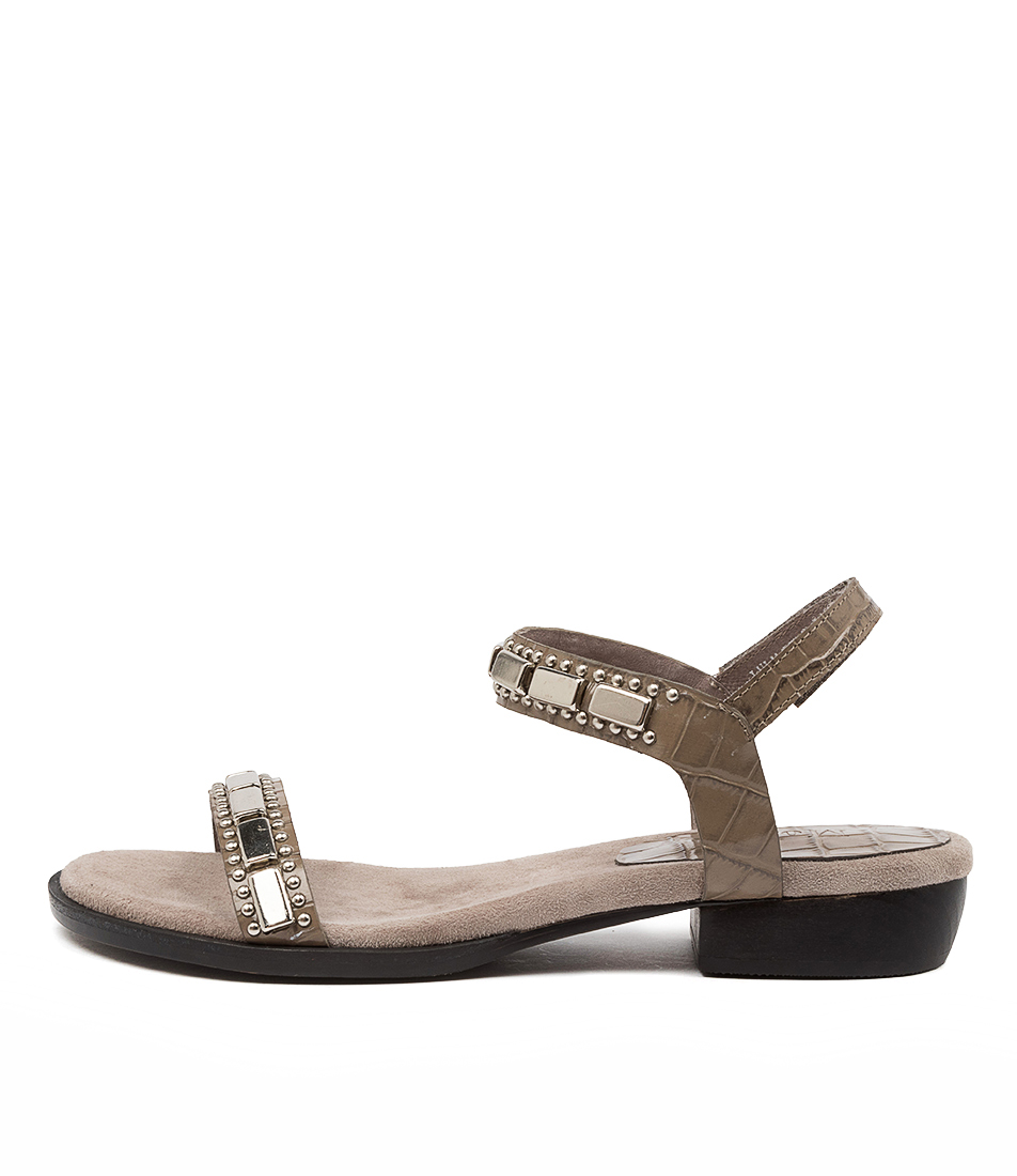 Buy Mollini Lulu Mo Taupe Flat Sandals online with free shipping