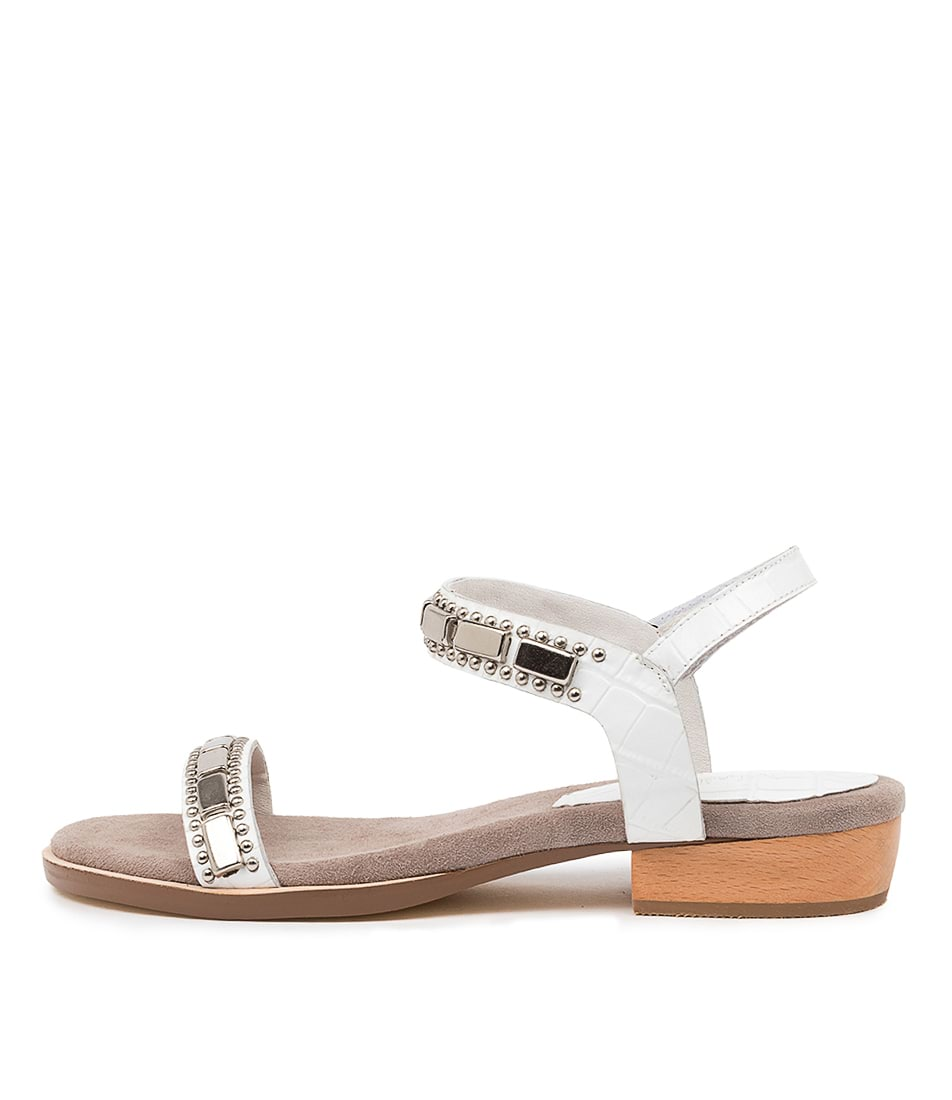 Buy Mollini Lulu Mo White Flat Sandals online with free shipping