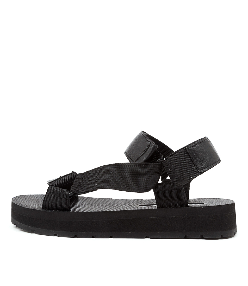 Buy Mollini Morgan Mo Black Flat Sandals online with free shipping