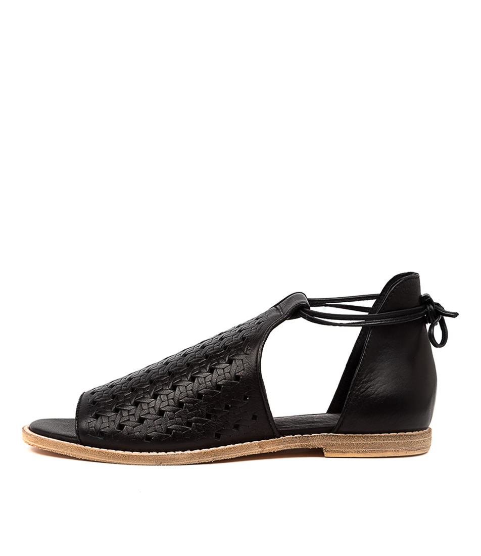 Buy Mollini Norwin Mo Black Flat Sandals online with free shipping