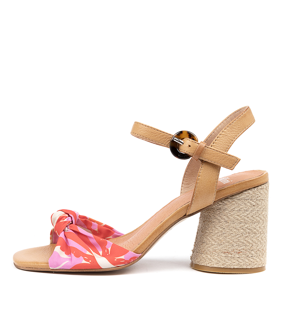 Buy Mollini Noshell Mo Bright Abstract Tan Heeled Sandals online with free shipping