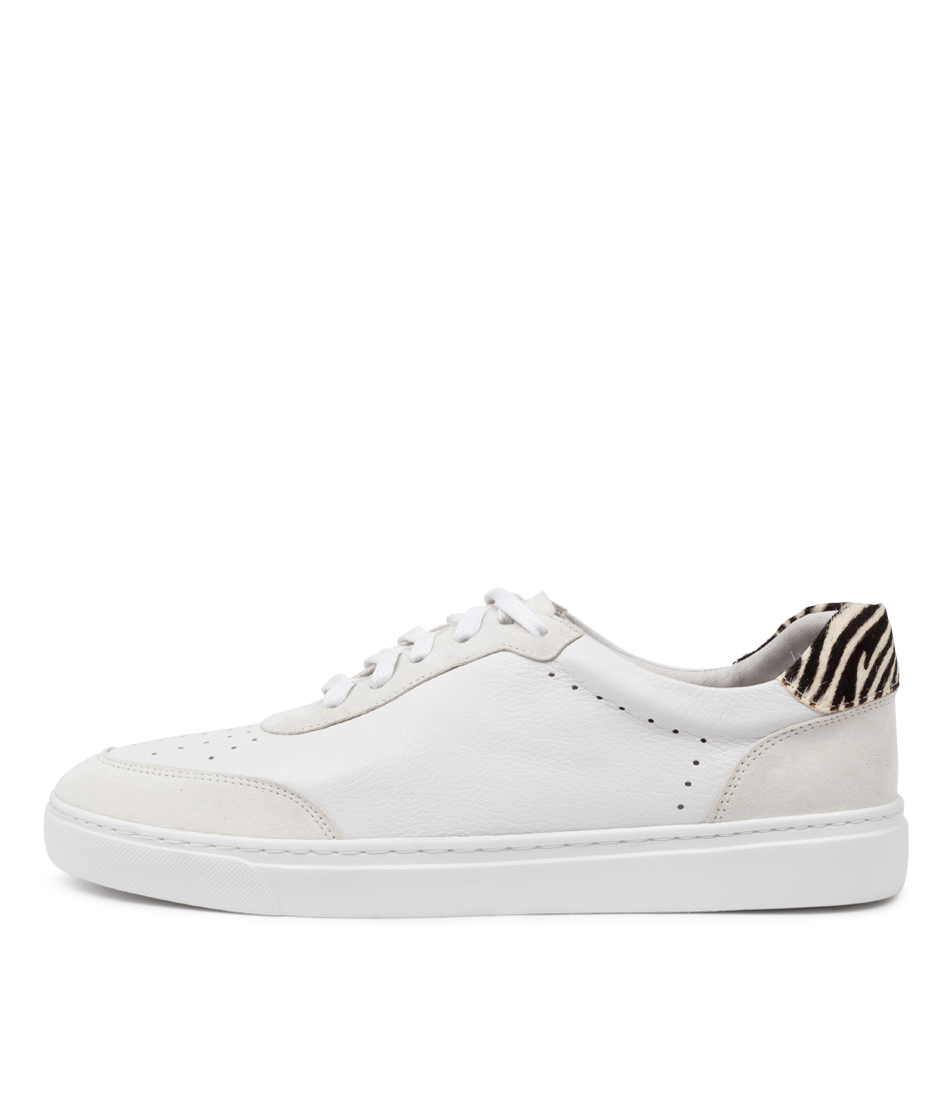 Buy Mollini Ocean Mo White Zebra Sneakers online with free shipping