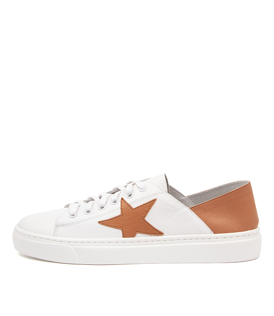 Buy Mollini Oholiday Mo White Dk Tan Sneakers online with free shipping
