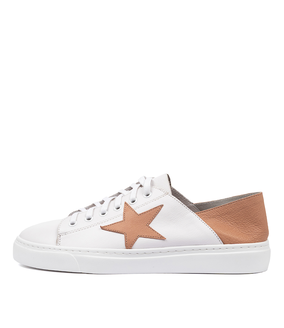 Buy Mollini Oholiday Mo White Dk Nude Sneakers online with free shipping