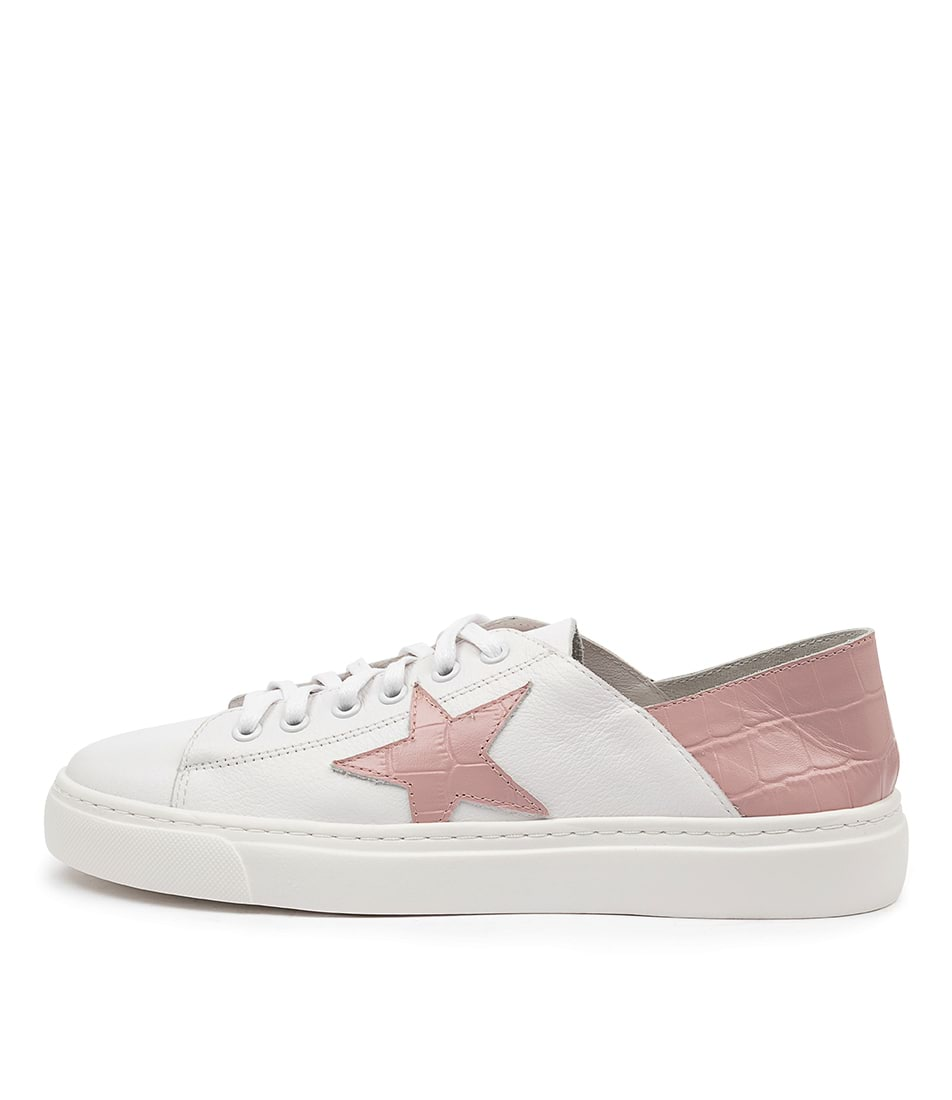 Buy Mollini Oholiday Mo White Pale Pink Sneakers online with free shipping