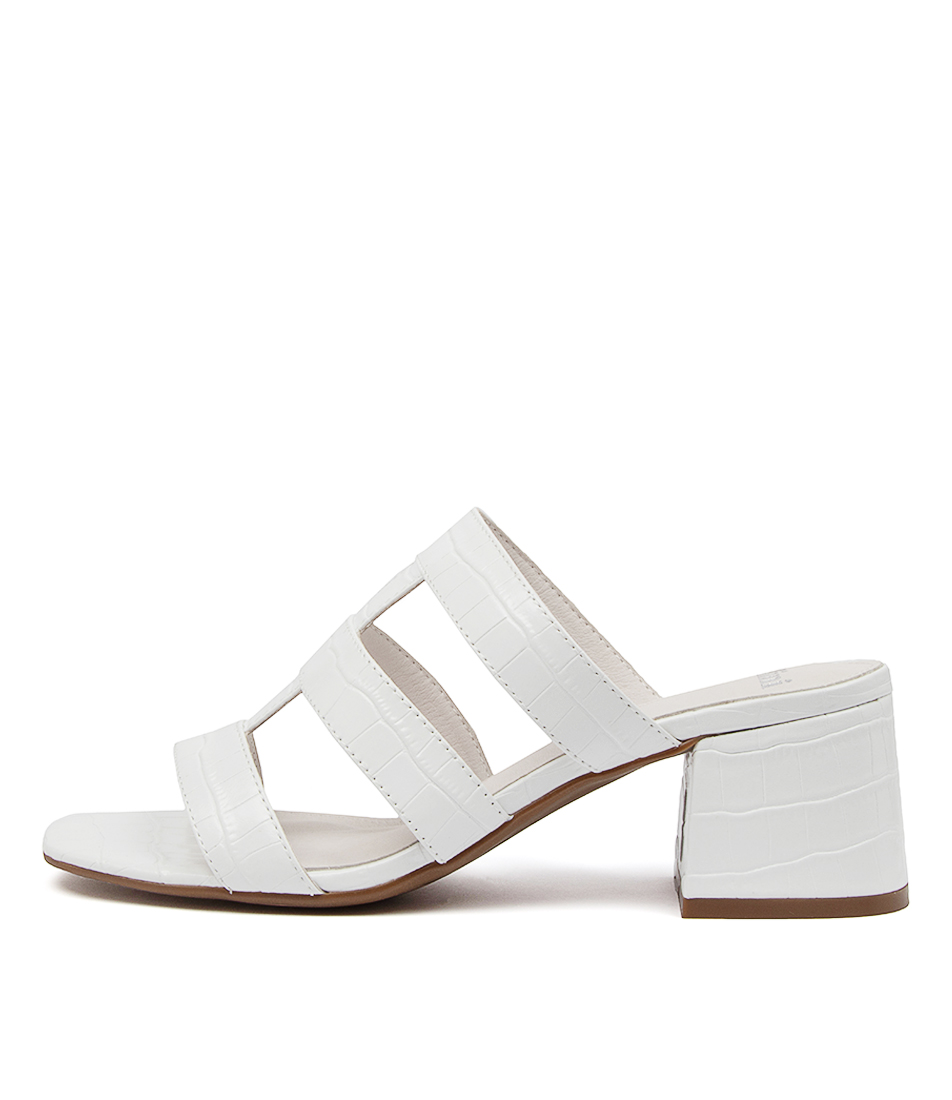 Buy Mollini Panni Mo White Heeled Sandals online with free shipping