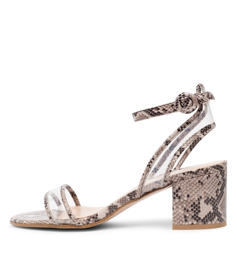 Buy Mollini Raxim Mo Taupe Clear Heeled Sandals online with free shipping