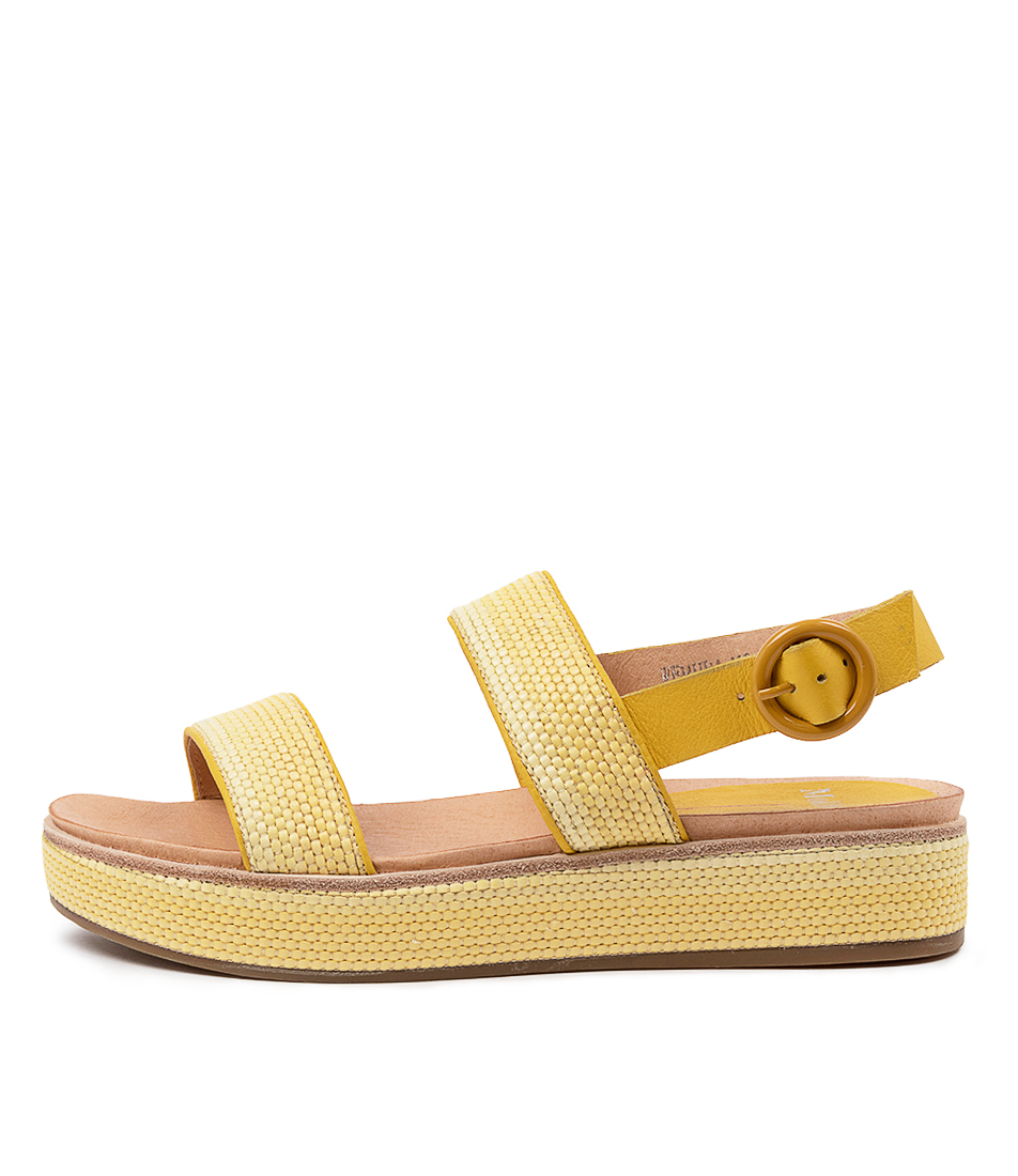Buy Mollini Wemuda Mo Yellow Flat Sandals online with free shipping