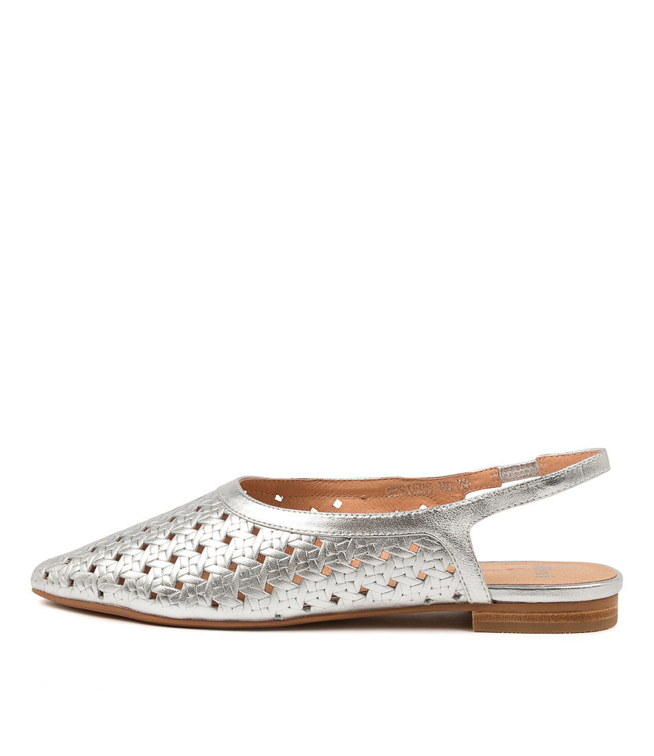 Buy Mollini Gesters Mo Silver Flats online with free shipping