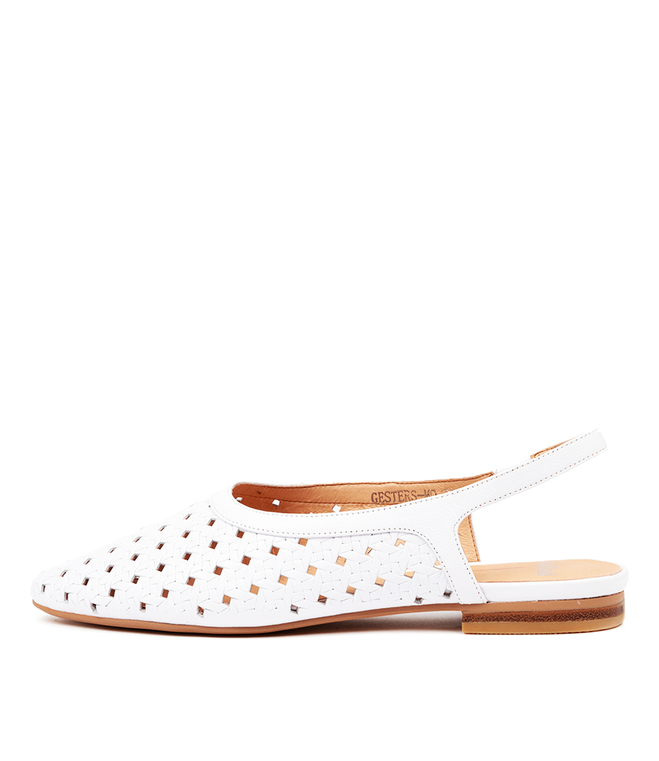 Buy Mollini Gesters Mo White Flats online with free shipping