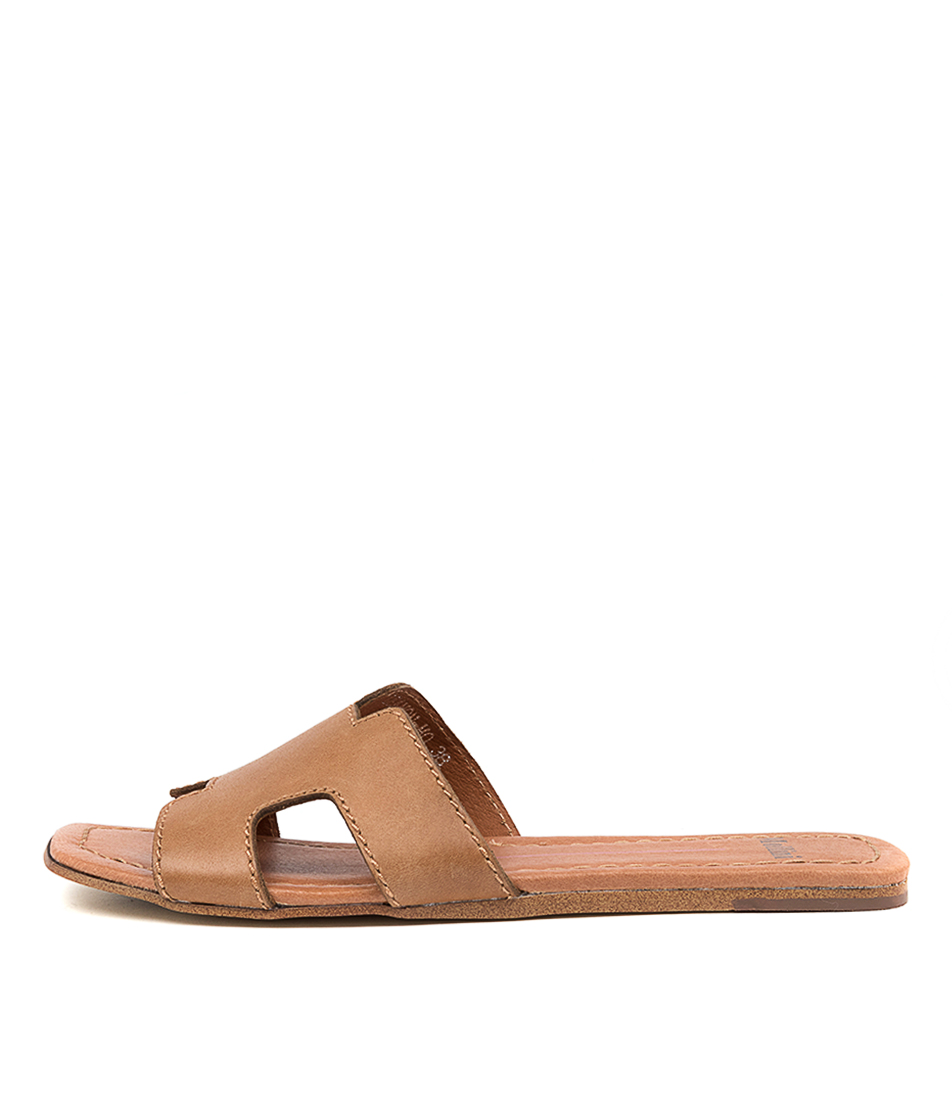Buy Mollini Leamon Mo Tan Flat Sandals online with free shipping