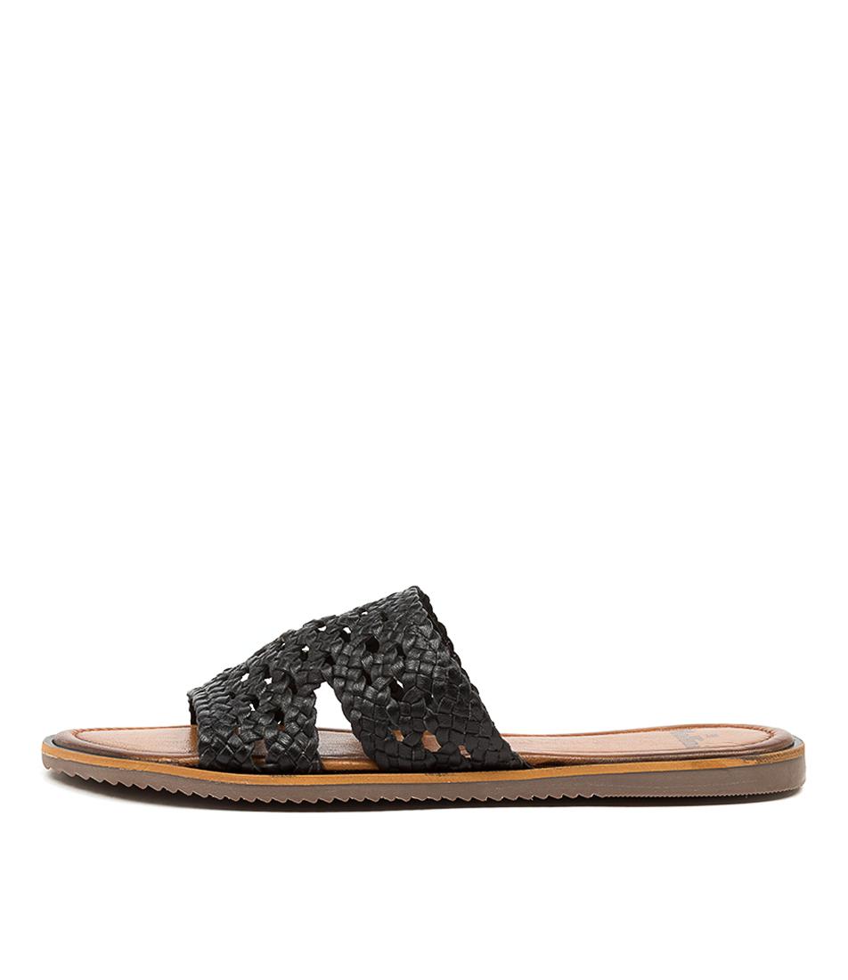 Buy Mollini Radu Mo Black Flat Sandals online with free shipping