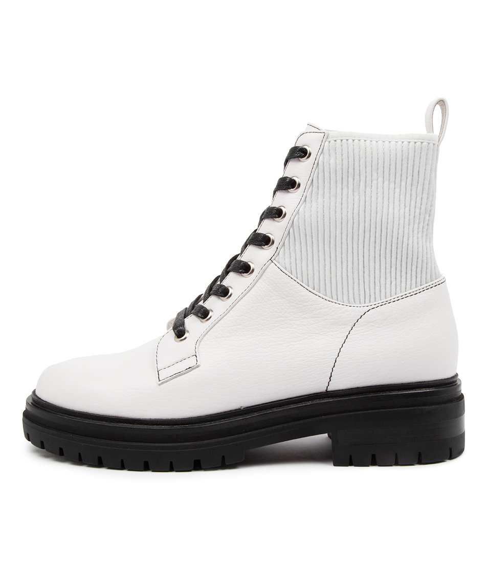 Buy Mollini Avarie Mo White Ankle Boots online with free shipping