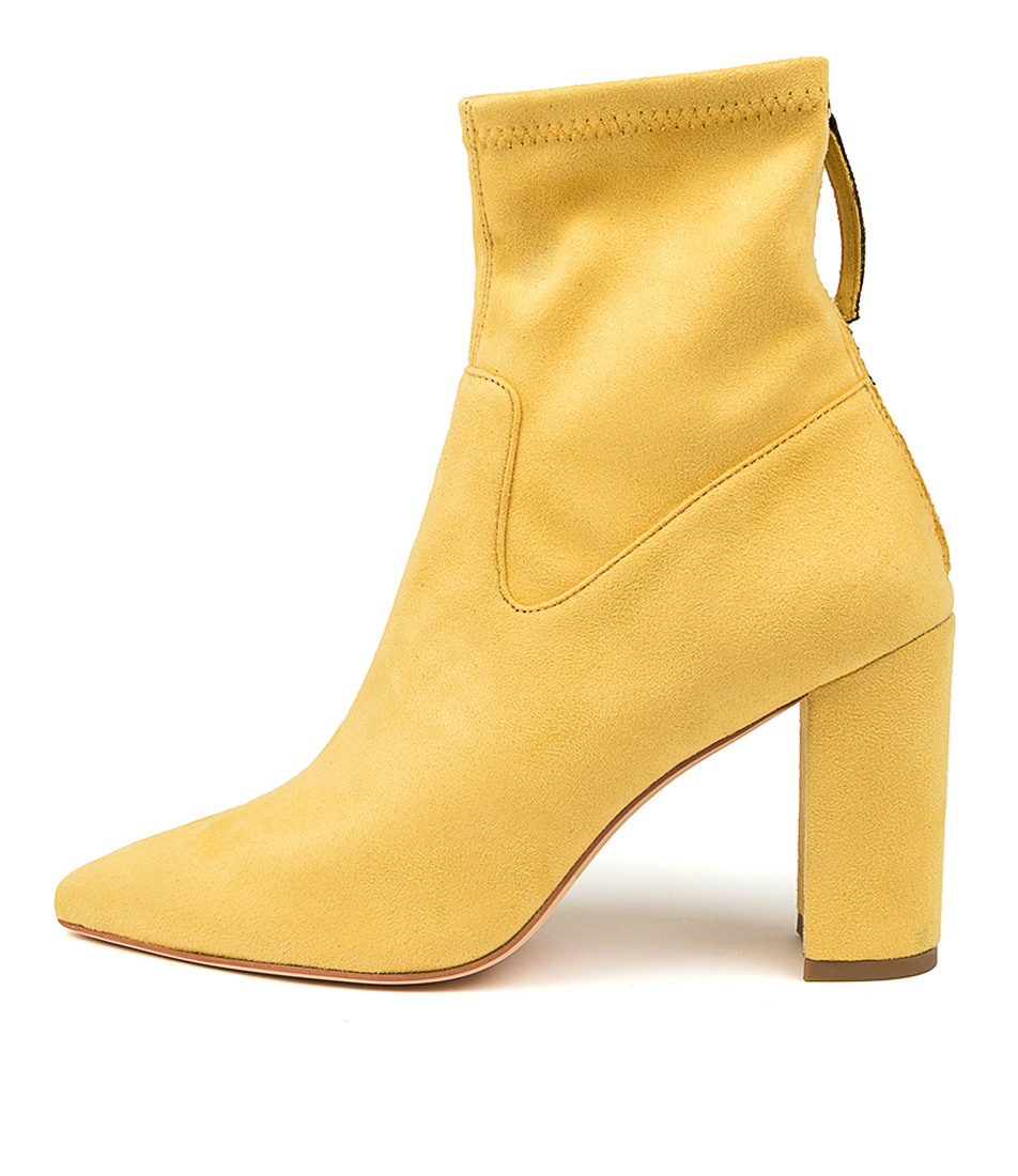 Buy Mollini Clevs Mo Yellow Ankle Boots online with free shipping