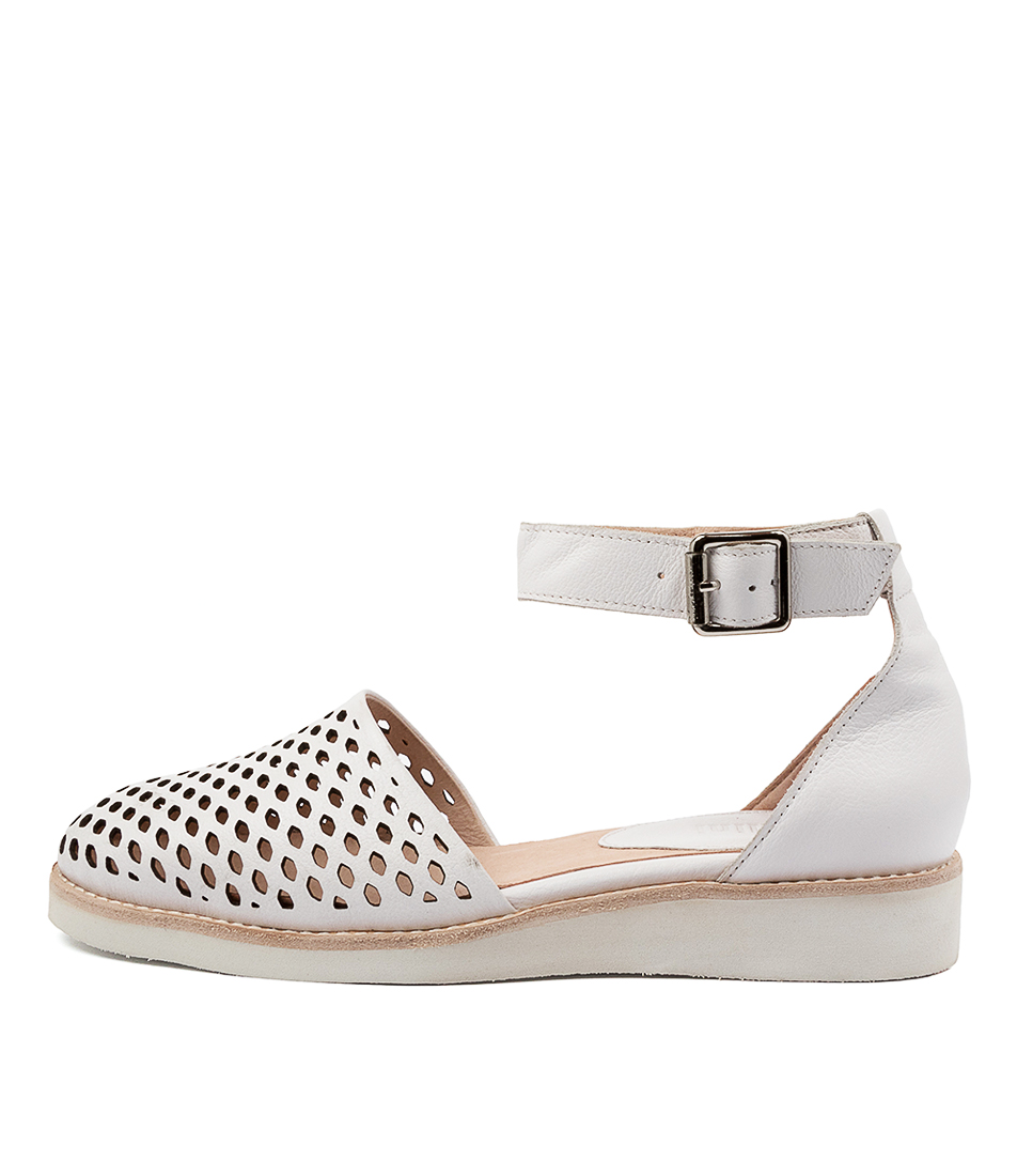 Buy Mollini Nierra Mo White Flats online with free shipping