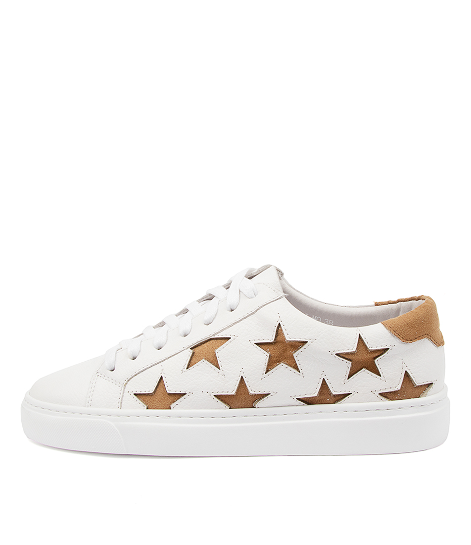 Buy Mollini Ostari Mo White Lt Tan Sneakers online with free shipping