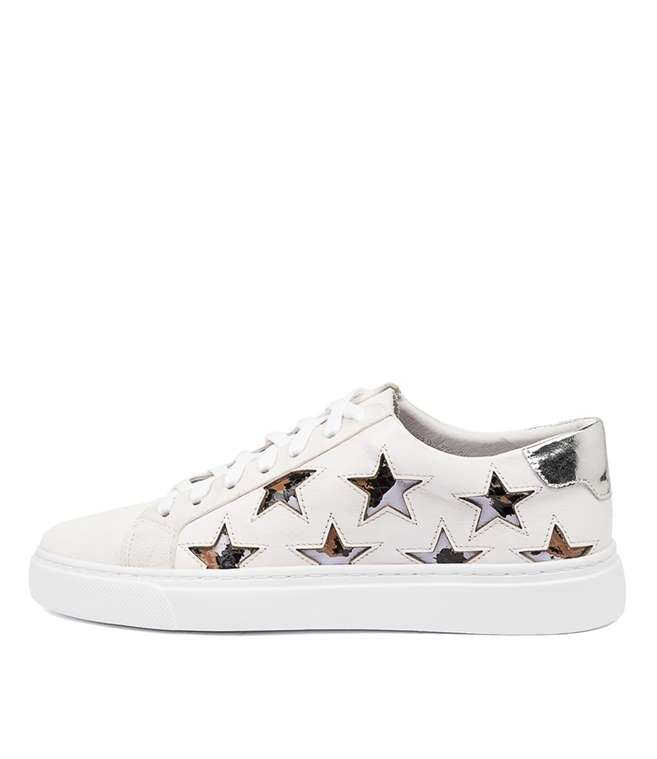 Buy Mollini Ostari Mo White Lilac Leopard Sneakers online with free shipping