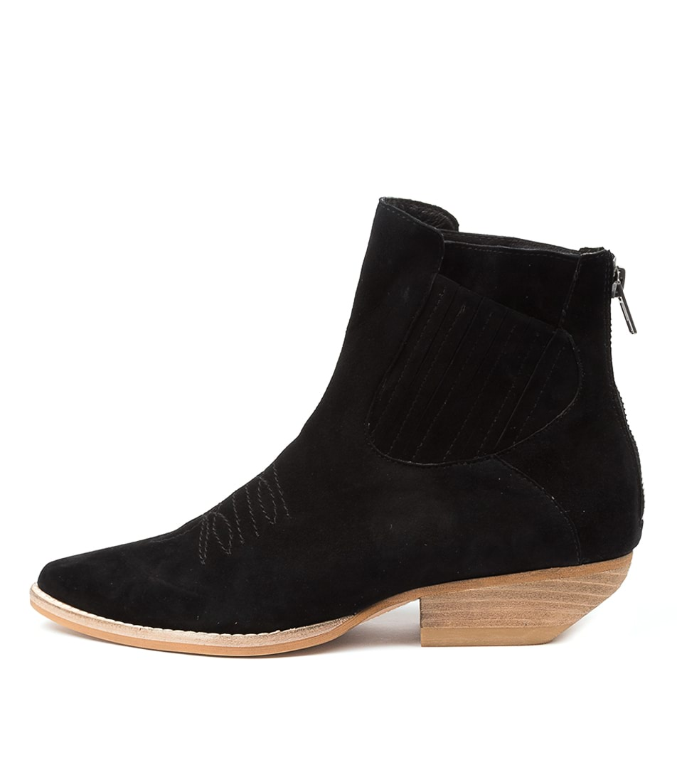 Buy Mollini Puly Mo Black Natural Heel Ankle Boots online with free shipping