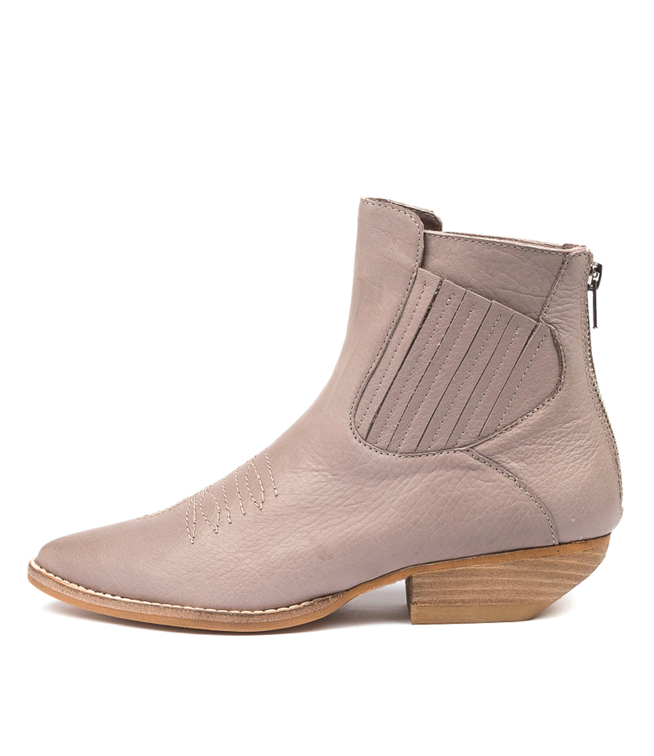 Buy Mollini Puly Mo Taupe Ankle Boots online with free shipping