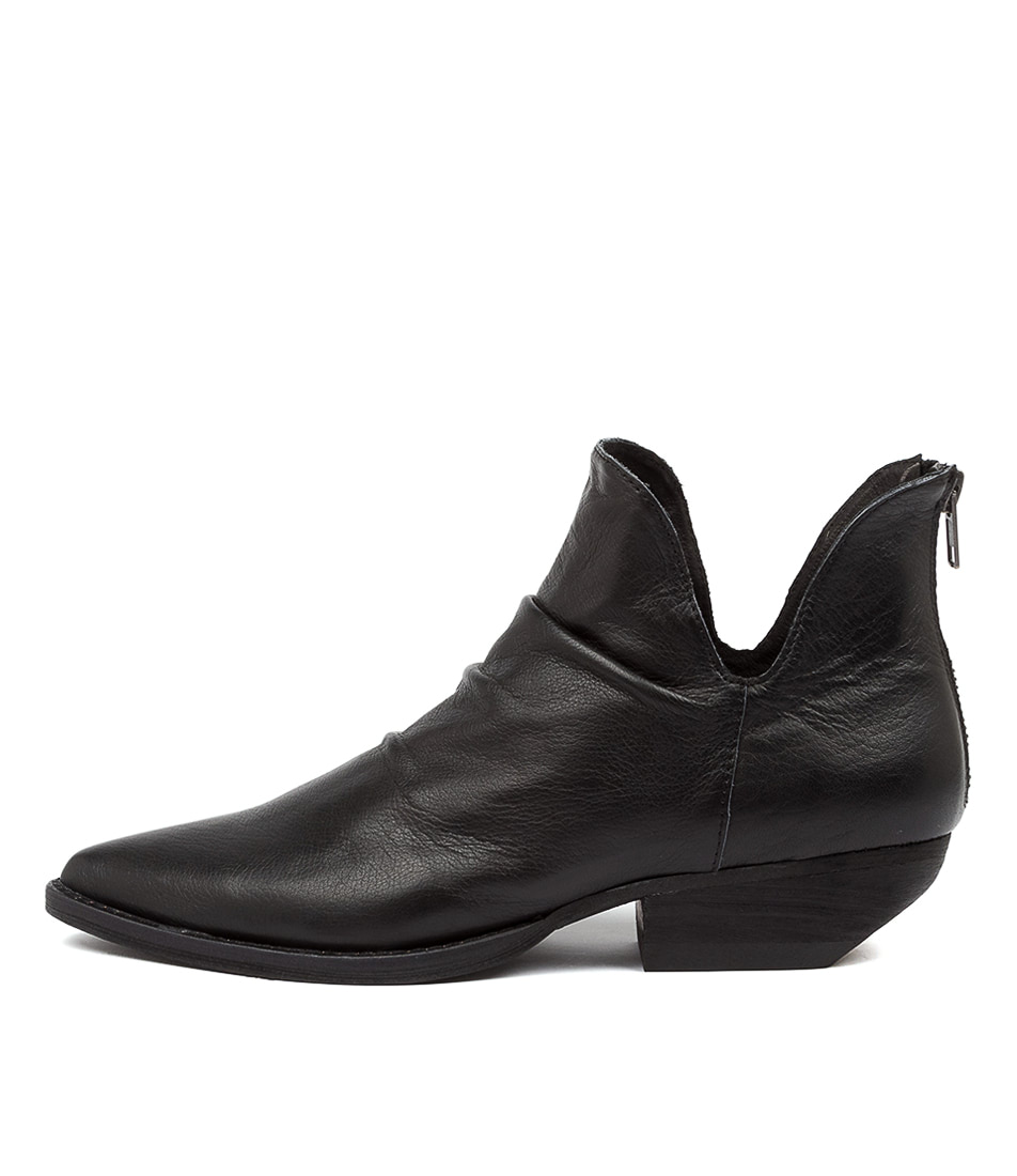 Buy Mollini Payor Mo Black Heel Ankle Boots online with free shipping