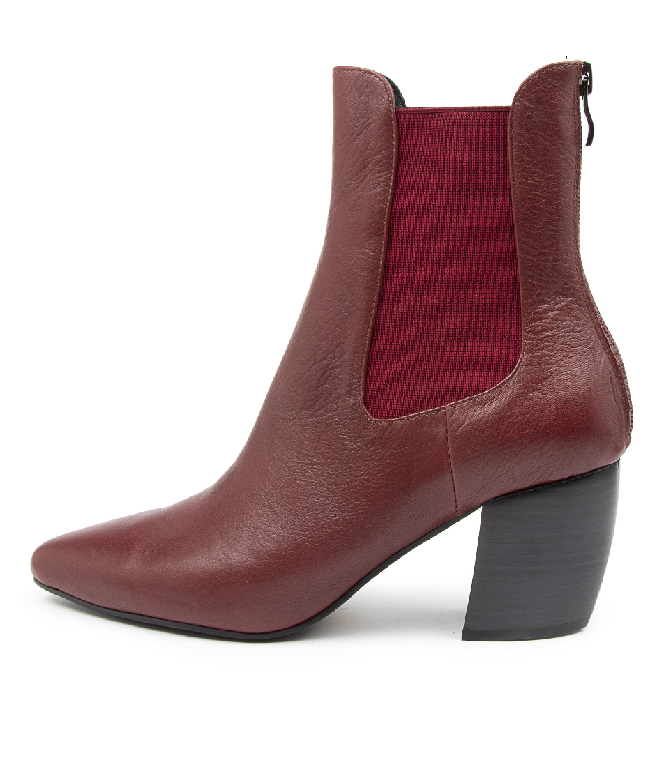Buy Mollini Ushola Mo Wine Dress Ankle Boots online with free shipping