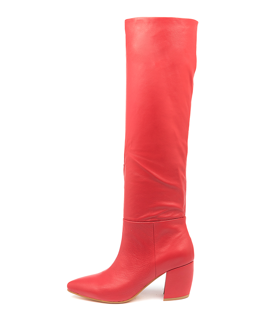 Buy Mollini Ufreya Mo Red Long Boots online with free shipping