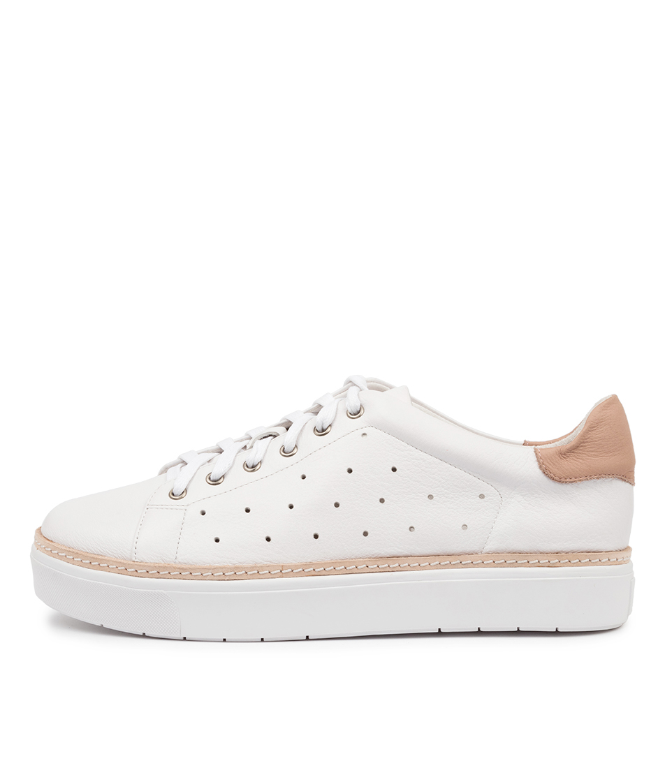 Buy Mollini Vesko Mo White Cafe Sneakers online with free shipping