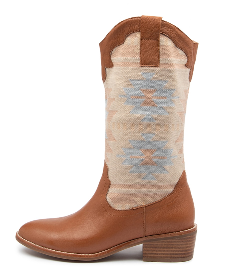 Buy Mollini Zasha Mo Dk Tan Lt Aztec Long Boots online with free shipping