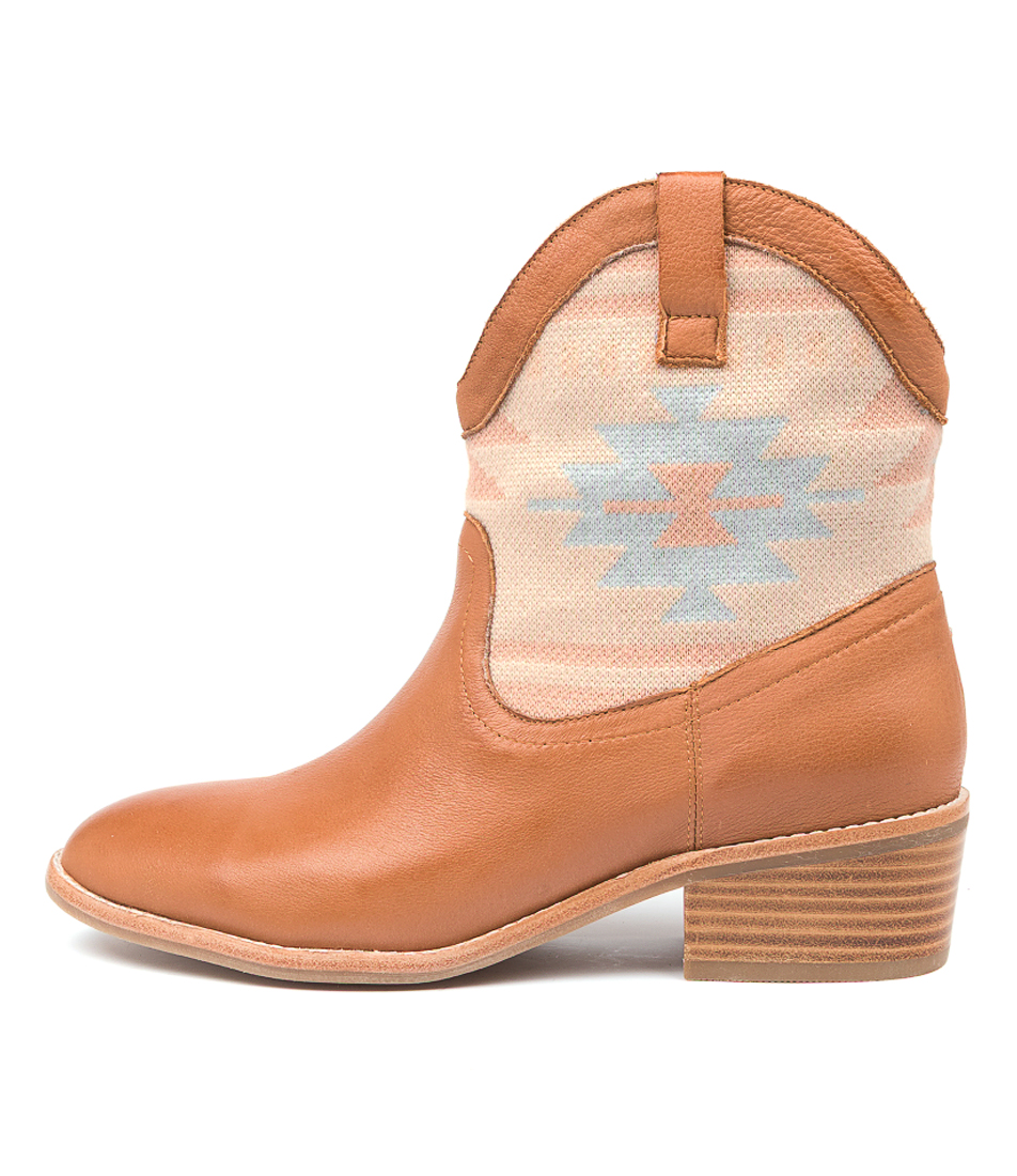Buy Mollini Zilam Mo Dk Tan Lt Aztec Ankle Boots online with free shipping
