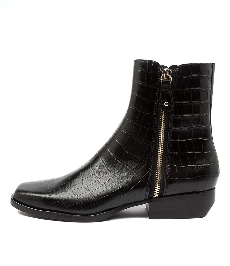 Buy Mollini Grande Tomo Black Ankle Boots online with free shipping