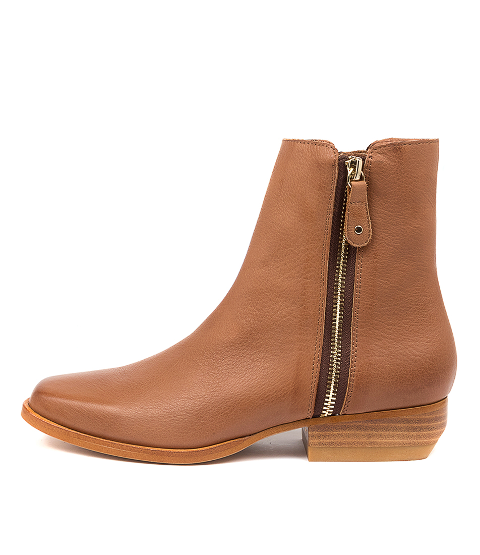 Buy Mollini Grande Tomo Cognac Ankle Boots online with free shipping