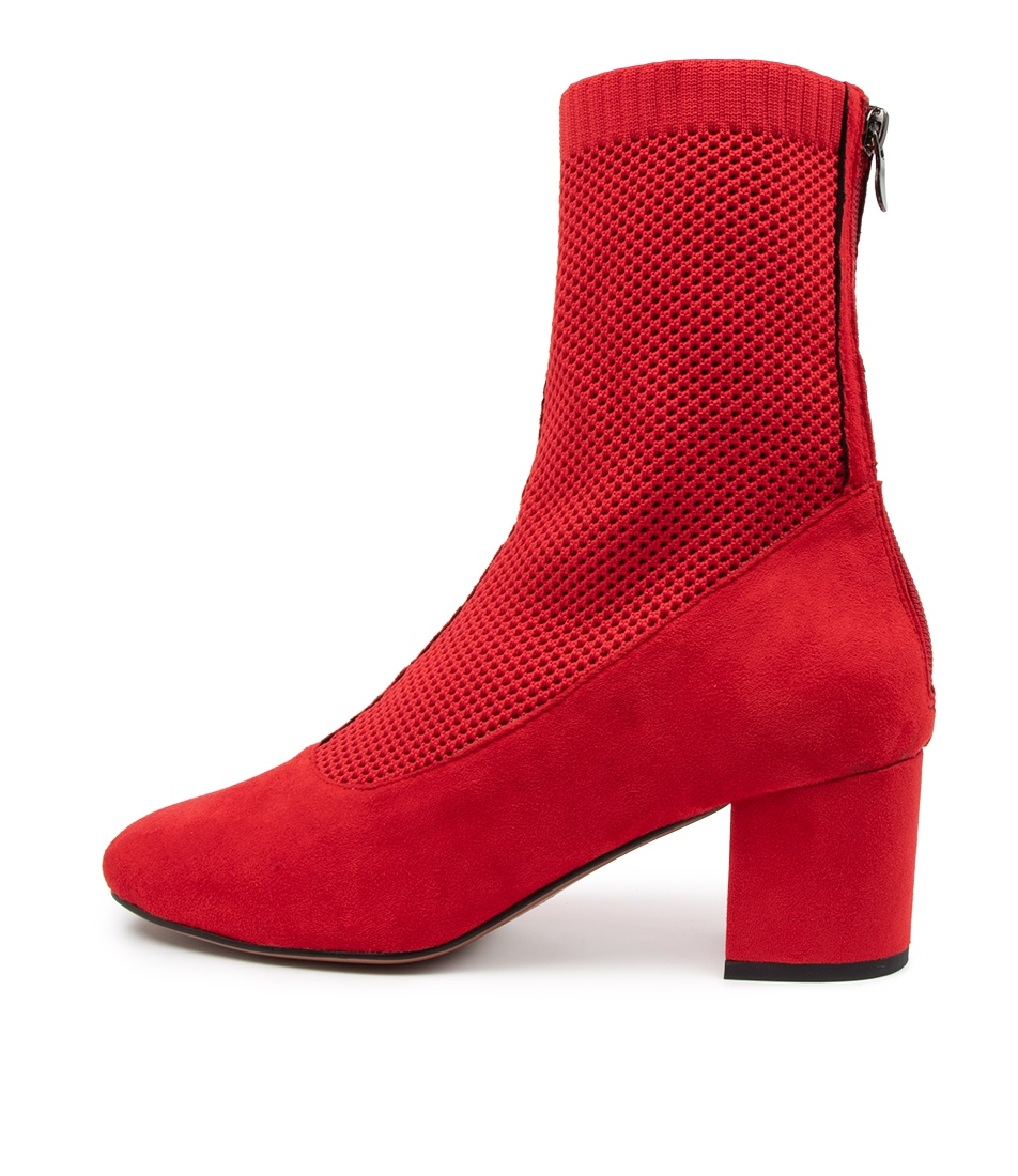 Buy Mollini Camesh Mo Red Red Ankle Boots online with free shipping