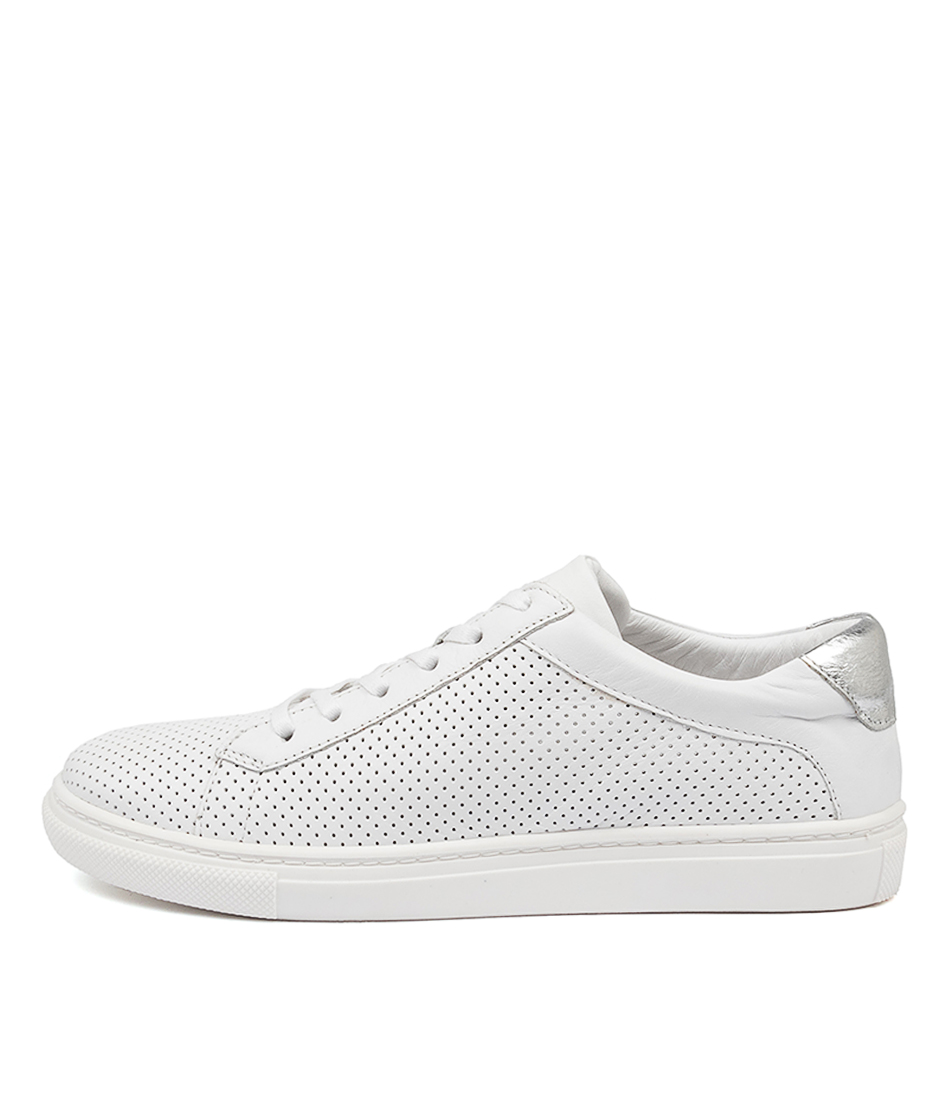 Buy Mollini Ebber Mo White Silver Sneakers online with free shipping