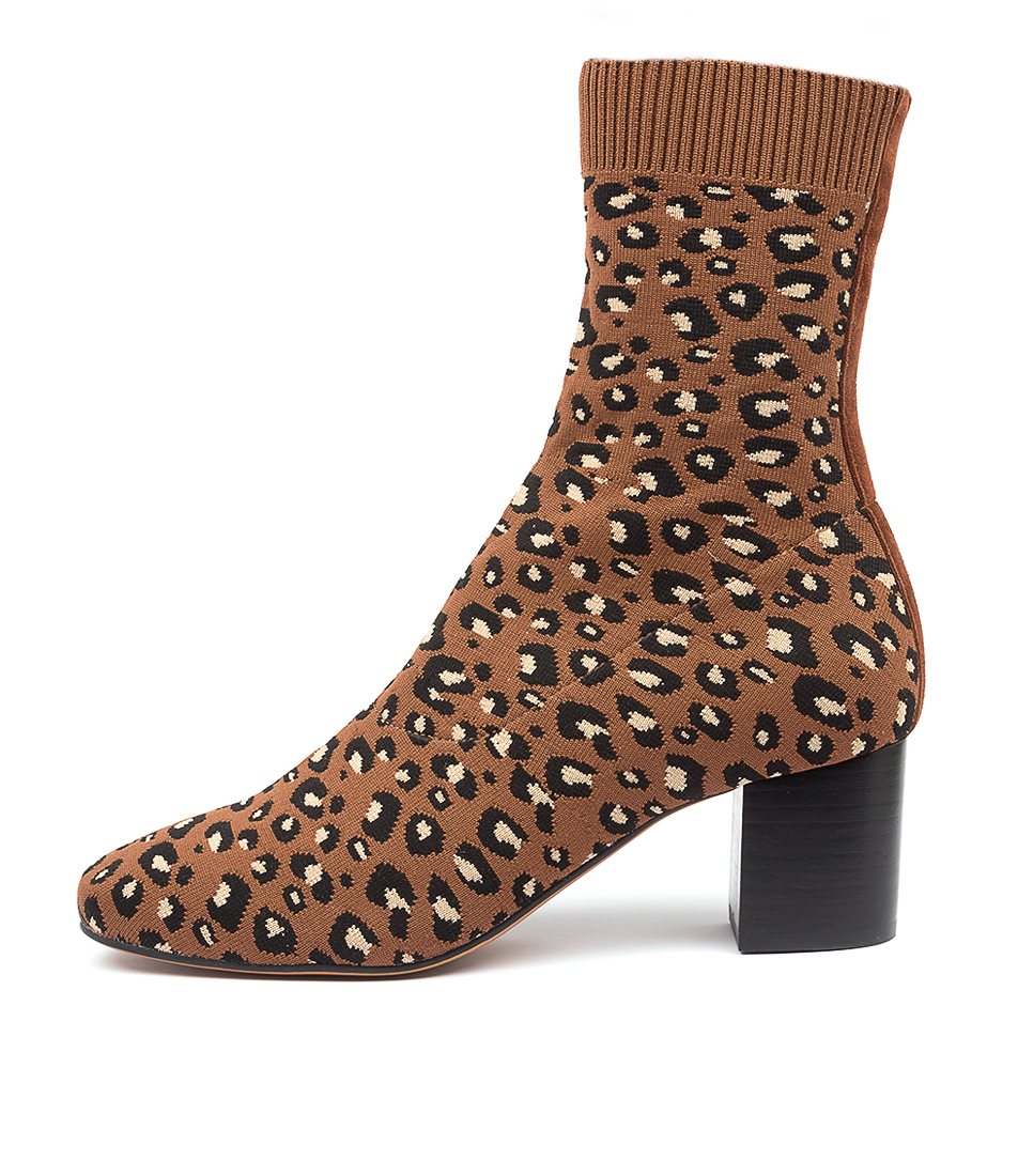 Buy Mollini Camorra Mo Tan Leopard Ankle Boots online with free shipping