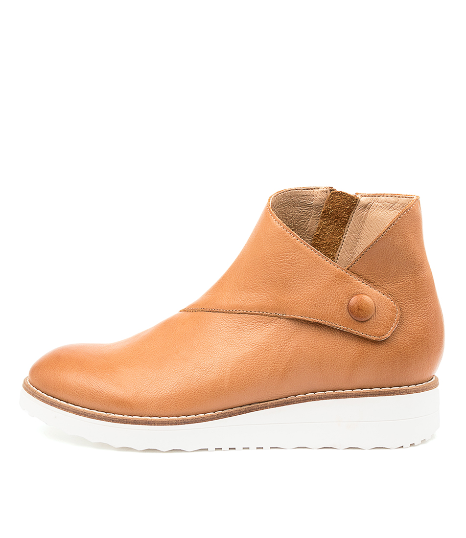 Buy Mollini Osman Tomo Dk Tan White Sole Ankle Boots online with free shipping
