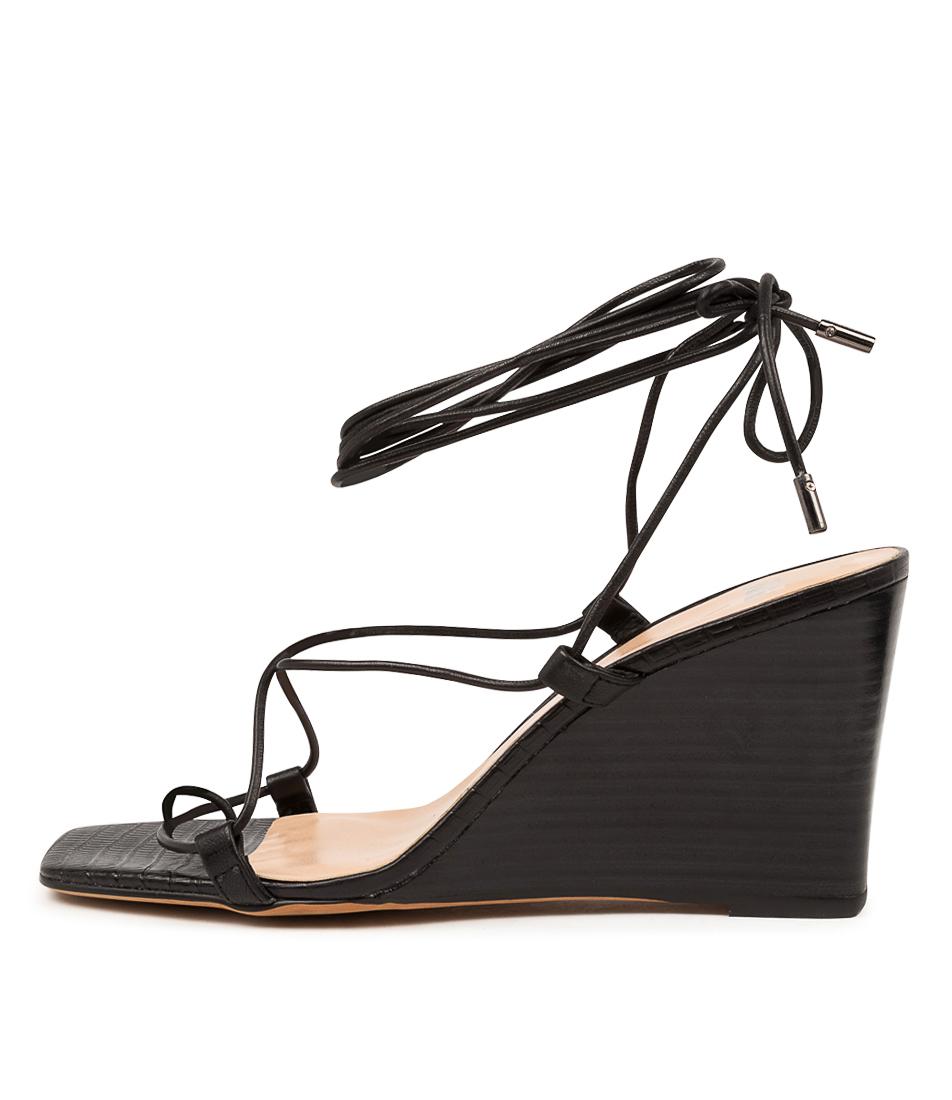 Buy Mollini Alyoop Mo Black Black Heel Heeled Sandals online with free shipping