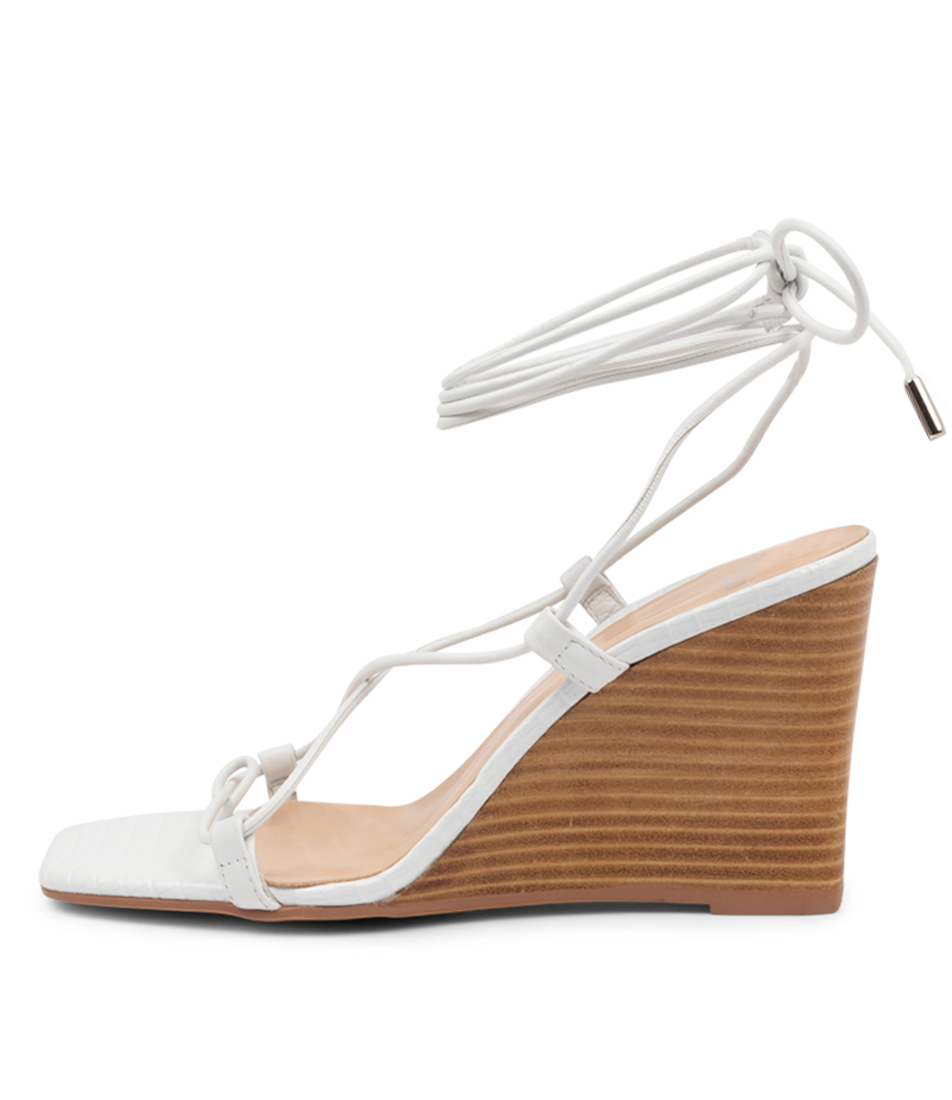 Buy Mollini Alyoop Mo White Natural Heel Heeled Sandals online with free shipping