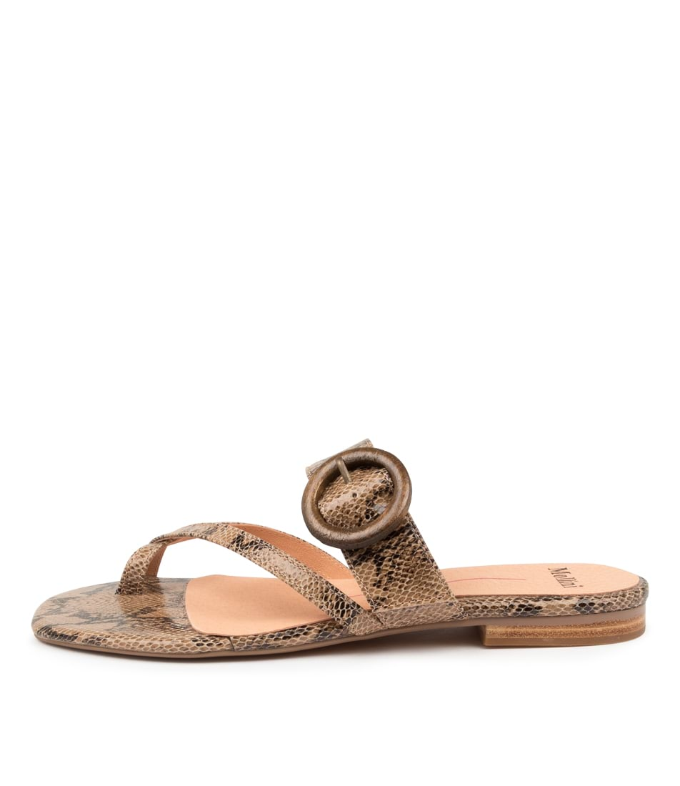 Buy Mollini Annalee Mo Natural Flat Sandals online with free shipping
