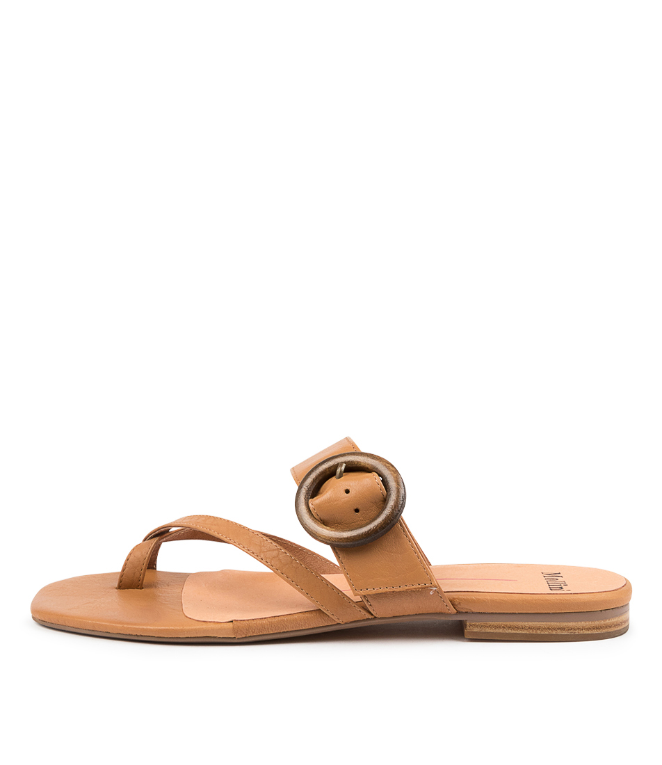 Buy Mollini Annalee Mo Dk Tan Flat Sandals online with free shipping