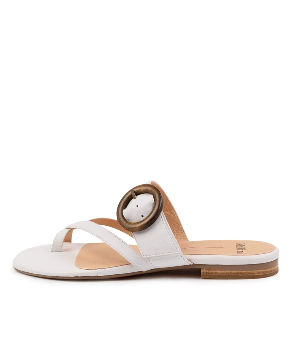 Buy Mollini Annalee Mo White Flat Sandals online with free shipping