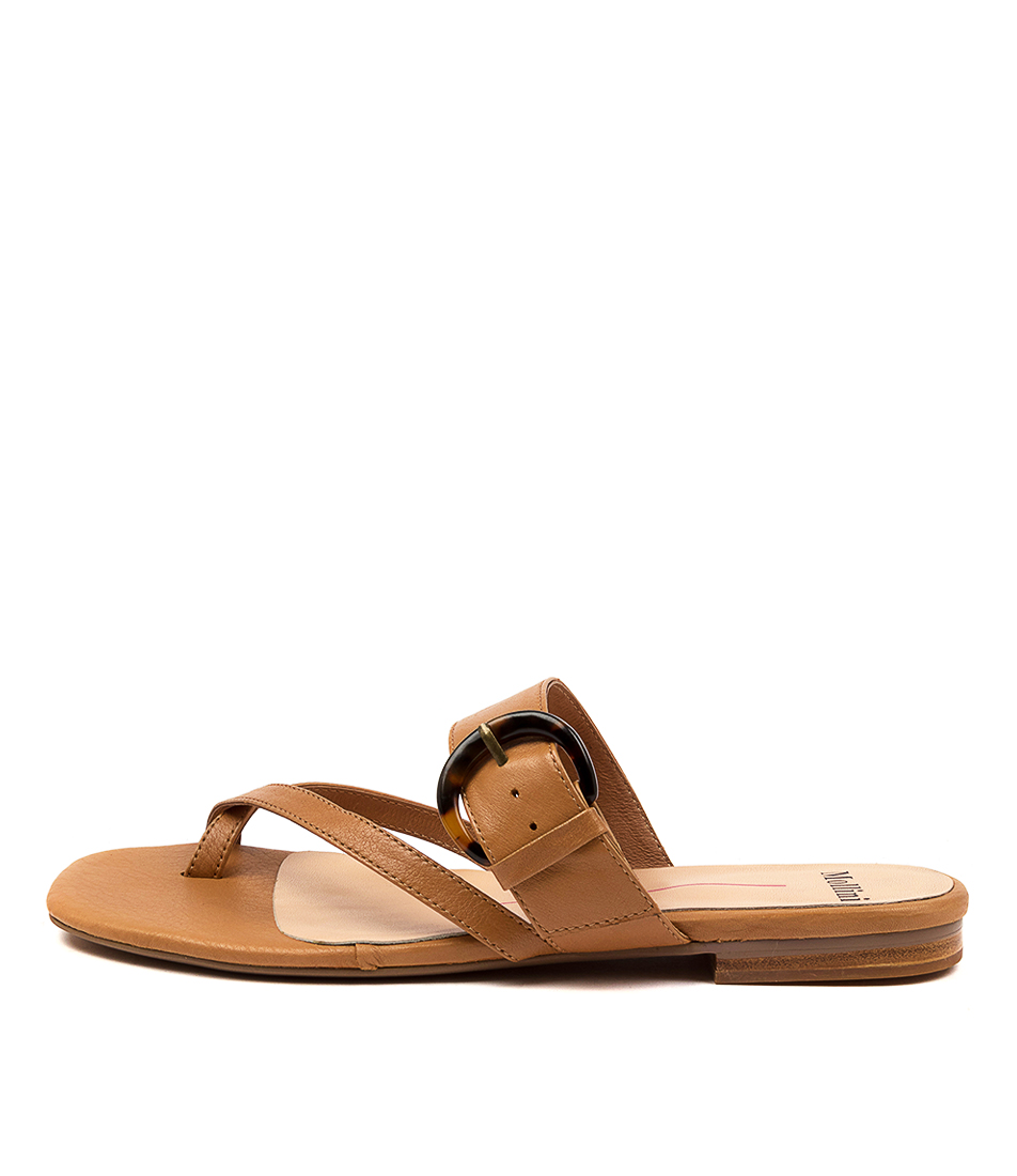 Buy Mollini Annay Mo Dk Tan Flat Sandals online with free shipping