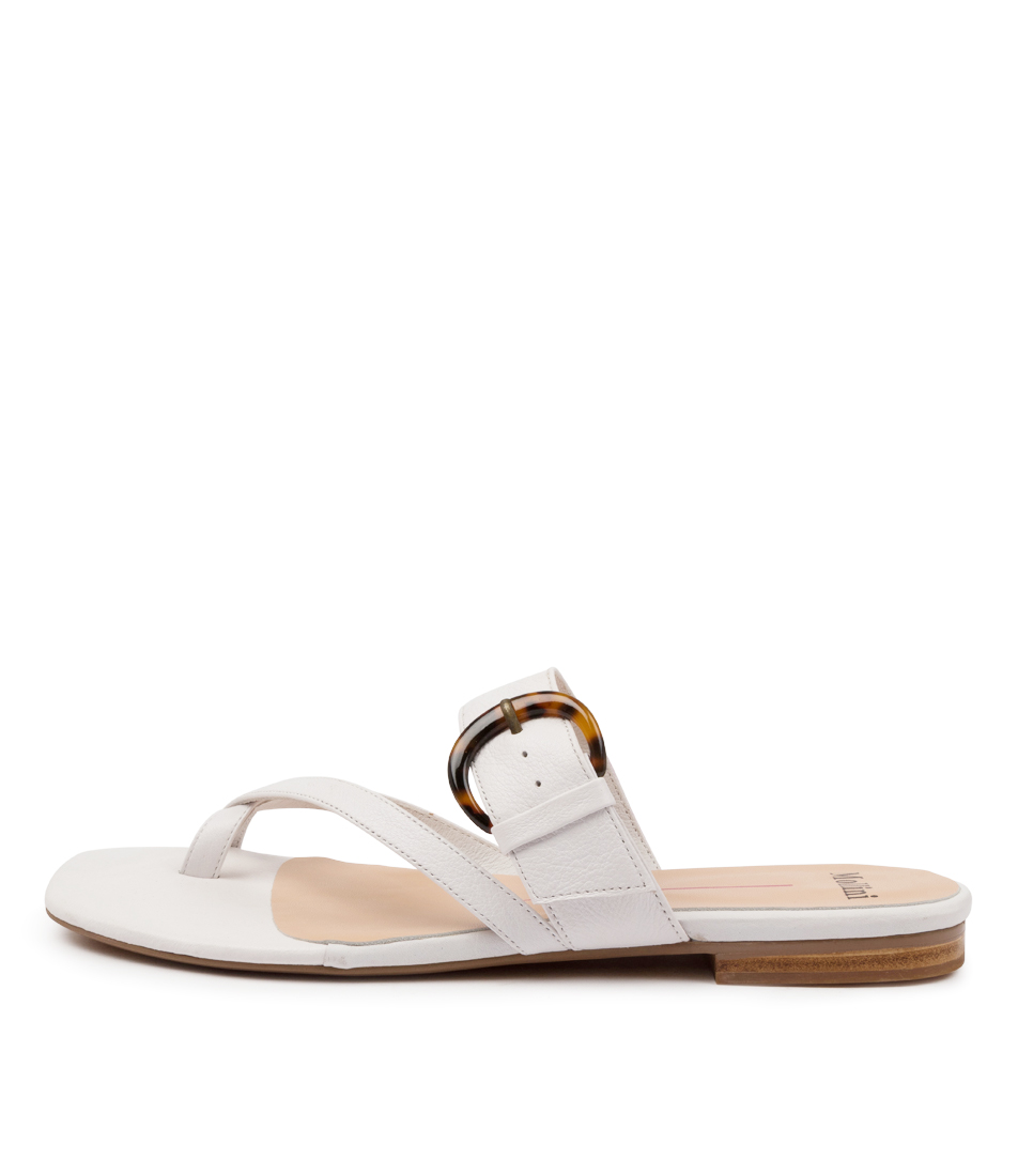 Buy Mollini Annay Mo White Flat Sandals online with free shipping