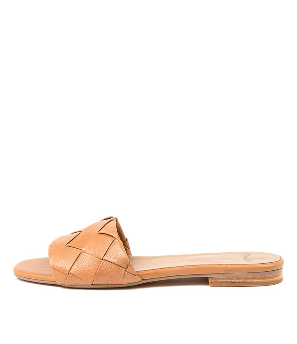 Buy Mollini Ayday Mo Dk Tan Flat Sandals online with free shipping