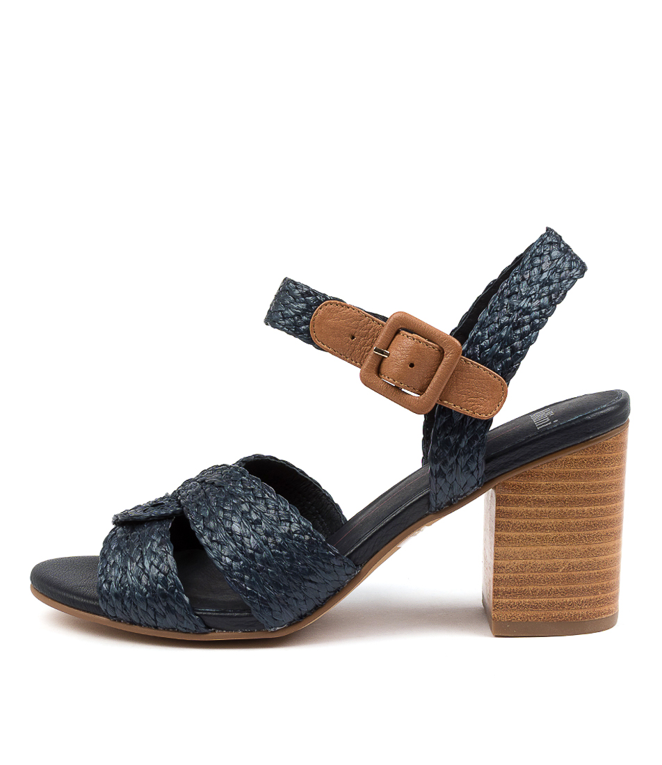 Buy Mollini Asailor Mo Navy Dk Tan Heeled Sandals online with free shipping