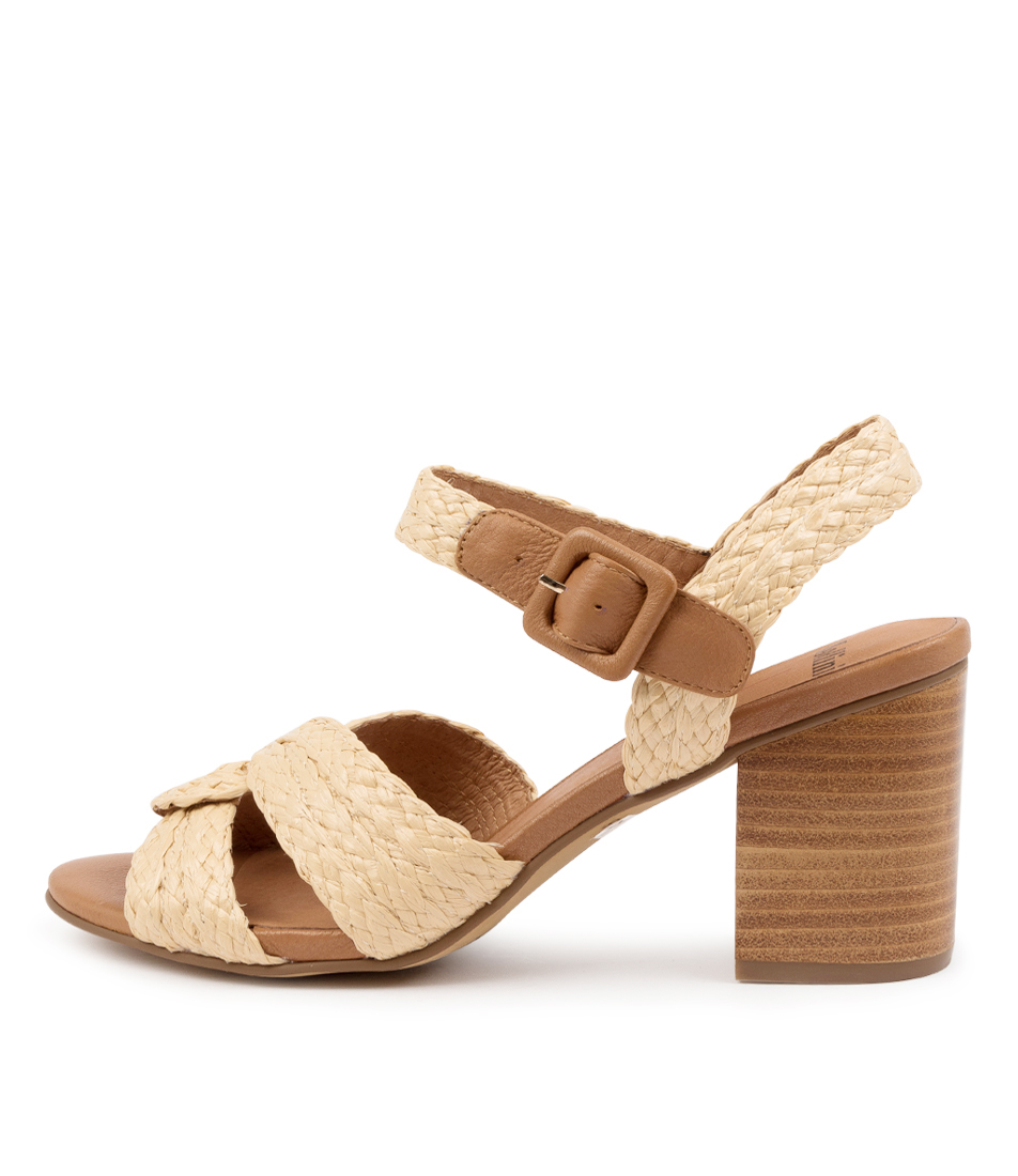 Buy Mollini Asailor Mo Natural Dk Tan Heeled Sandals online with free shipping
